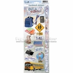 School: Off to School Cardstock Sticker