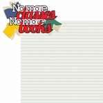 School's Out: No More Classes No More Books 2 Piece Laser Die Cut Kit