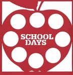 School: School Days Apple 12 x 12 Overlay Laser Die Cut