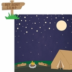 Scouting: Scout Camp 2 Piece Laser Die Cut Kit
