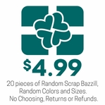 Scrap Bazzill - 20 Pieces of Scrap Bazzill for $4.99