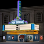 Scrap Your Trip: Custom Movie Theater Sign 12 x 12 Paper