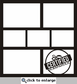 Scrappy Time: Certified Scrap-a-holic 12 x 12 Overlay Laser Die Cut