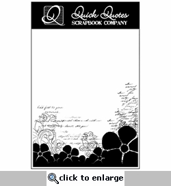 Script & Flowers Vellum Full Page Silhouette