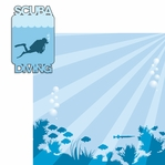 Scuba Diving: Scuba Diving 2 Piece Laser Die Cut Kit