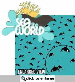 Sea The World: Sea The World 2 Piece Laser Die Cut Kit