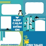 Sea The World: Title Cards and Journaling Cards 12 x12 Paper