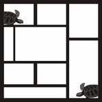 Sea Turtles 12 x 12 Overlay Laser Die Cut