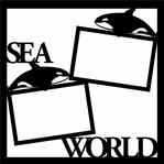 Sea World 12 x 12 Overlay Laser Die Cut
