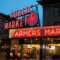 Seattle: Pike Place Market 12 x 12 Paper