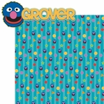 Sesame ST: Grover 2 Piece Laser Die Cut Kit