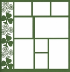 Shamrock 12 x 12 Overlay Laser Die Cut-<font color=red> <b>we ♥ this</b></font>