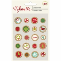 Shimelle Christmas: Wooden Buttons