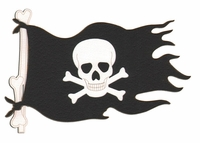 Shiver Me Timbers: Pirate Flag Laser Die Cut