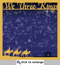 Silent Night: We Three Kings 2 Piece Overlay Quick Page Laser Die Cut