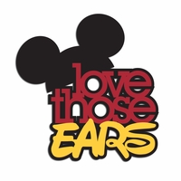 Silly Ears: Love those ears Laser Die Cut