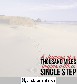 Simple Sayings: Footsteps 12 x 12 Paper