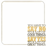 Simple Sayings: Greatness 12 x 12 Paper