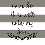 Simple Sayings: It is well with My Soul 12 x 12 Paper