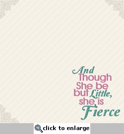 Simple Sayings: She Is Fierce