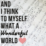 Simple Sayings: Wonderful World 12 x 12 Paper