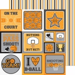 Slam Dunk: Game Stripe 12 x 12 Double-Sided Cardstock