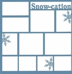 Snow-cation 12 x 12 Overlay Laser Die Cut