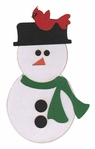 Snowman With Cardinal Laser Die Cut