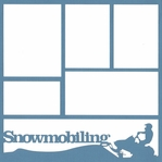 Snowmobiling 12 x 12 Overlay Laser Die Cut