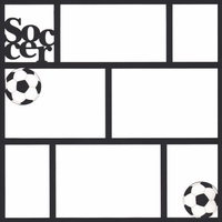 Soccer 12 x12 Photo Overlay Laser Die Cut