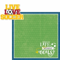 Soccer Champ: Live, Love, Soccer 2 Piece Laser Die Cut Kit