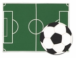 Soccer Field And Ball Laser Die Cut