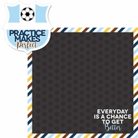 Soccer Goals: Practice 2 Piece Laser Die Cut Kit