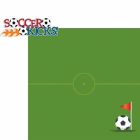 Soccer Star: Soccer Kicks 2 Piece Laser Die Cut Kit