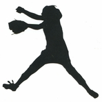 Softball Pitcher Laser Die Cut