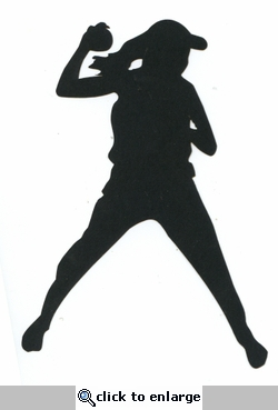 Softball Player Throwing Laser Die Cut