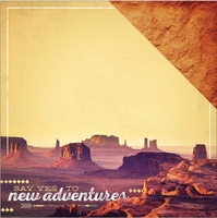 Southwest Adventure: Monument Valley 12 x 12 Double Sided Cardstock