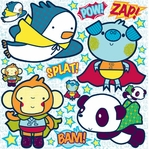 Space Heroes: 12 x 12 Icon Sticker