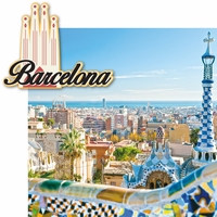 Spain: Barcelona 2 Piece Laser Die Cut Kit