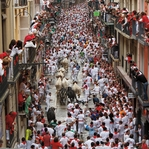 Spain & Portugal: Running of the Bulls 12 x 12 Paper