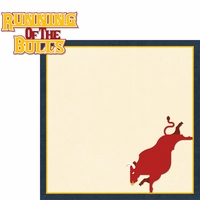 Spain: Running Of The Bulls 2 Piece Laser Die Cut Kit