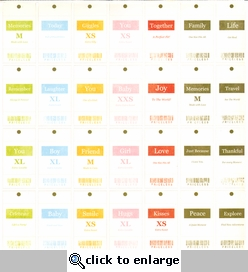 Spirit: Price Tags 12 x 12 Cardstock Punch-Outs