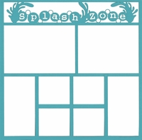Splash Zone 12 x 12 Overlay Laser Die Cut