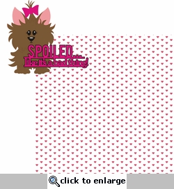 Spolied..like it's a bad thing-Pink 2 Piece Laser Die Cut Kit