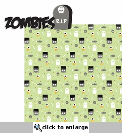 Spooktastic: Zombies 2 Piece Laser Die Cut Kit