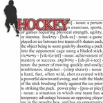 Sports Fanatic: Hockey 2 Piece Laser Die Cut Kit