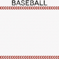 Sports Galore: Baseball 12 x 12 Paper