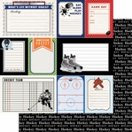 Sports Journal: Hockey 12 x 12 Double-Sided Paper