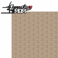 Sports Mom: Gymnastics Mom 2 Piece Laser Die Cut Kit