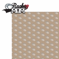 Sports Mom: Rugby Mom 2 Piece Laser Die Cut Kit